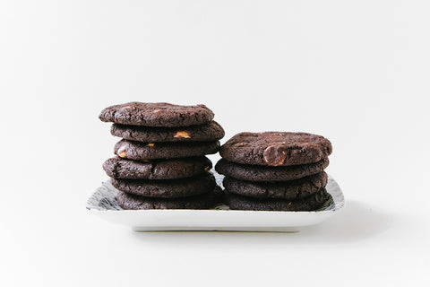 Smoked Sea Salt Dark Chocolate Cookies