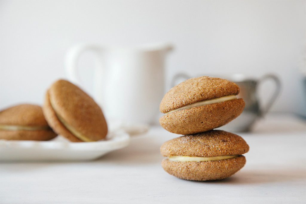 Whimsy & Spice pumpkin ginger sandwich cookies
