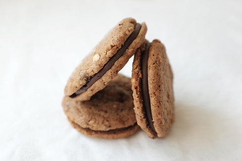 Hazelnut Whisky Sandwich Cookies
