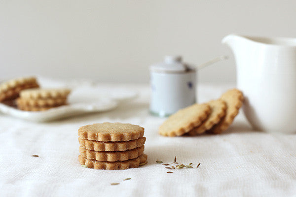 fennel olive oil shortbread cookies
