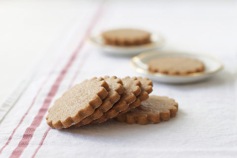 Brown Sugar Gingerspice Shortbread Cookies