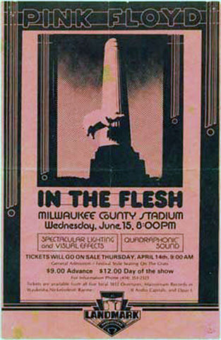 Pink Floyd in the Flesh Tour poster