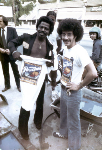 James Brown holding Peaches T-Shirt 1975