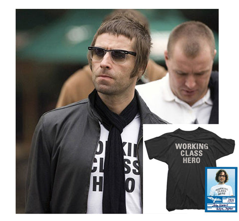 Liam Gallagher Oasis John Lennon The Beatles Working Class Hero T-Shirt Worn Free