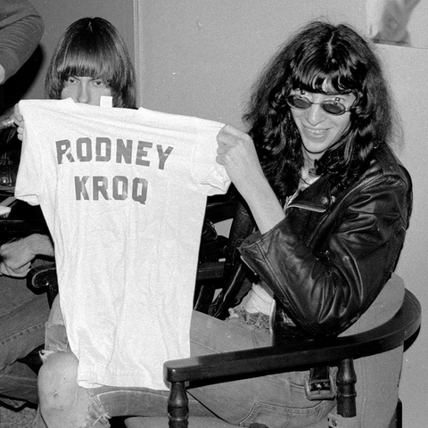 Rodney at KROQ with the Ramones