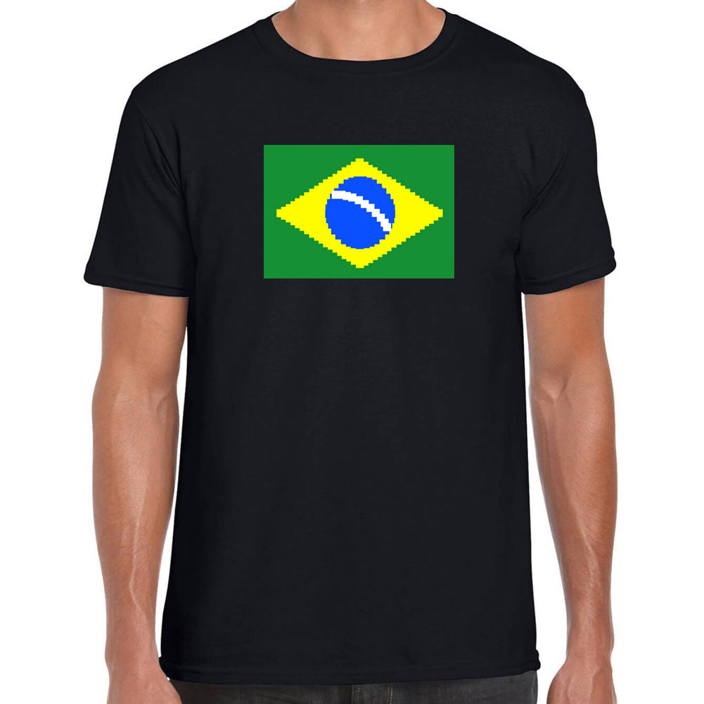 Brazilian Flag 8 Bit T-Shirt