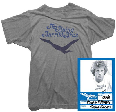 Chris Hillman T-Shirt - Flying Burrito Bros Bird Tee worn by Chris Hillman