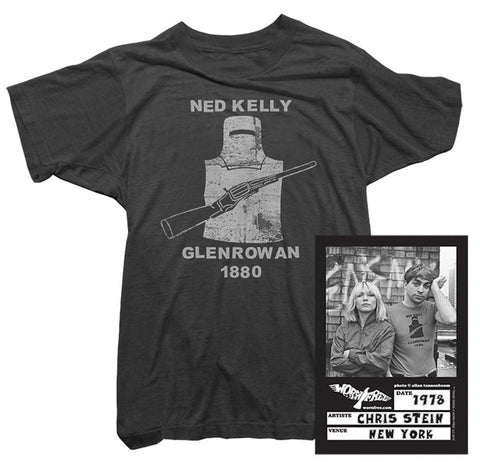 Blondie T-Shirt - Ned Kelly Tee worn by Chris Stein