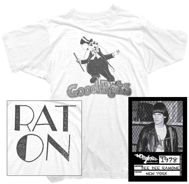 Dee Dee Ramone T-Shirt - Good Rats Tee worn by Dee Dee Ramone