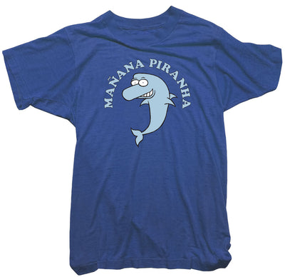 Dolphin T-Shirt - Wonga World Manana Piranha Tee