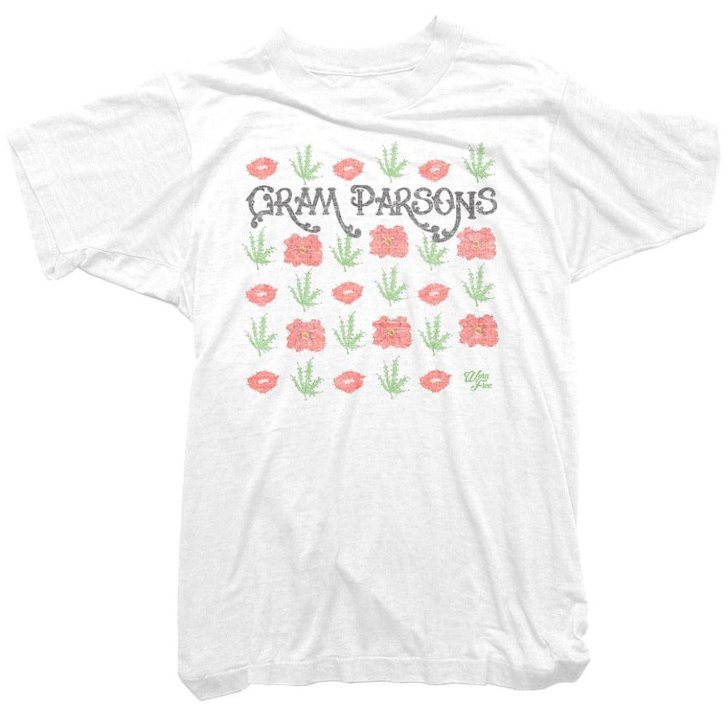 Gram Parsons T-Shirt - Flowers repeat Tee
