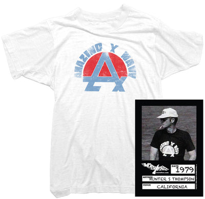 Hunter S Thompson T-Shirt - Amazing X Navy T-Shirt