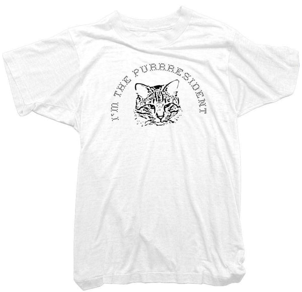 Worn Free T-Shirt - I'm the Purrresident Cat T-Shirt