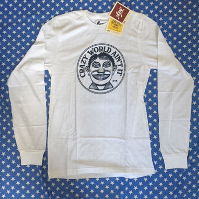 Crazy World Ain't it - John Van Hamersveld Long Sleeve T-Shirt Sample one only size small