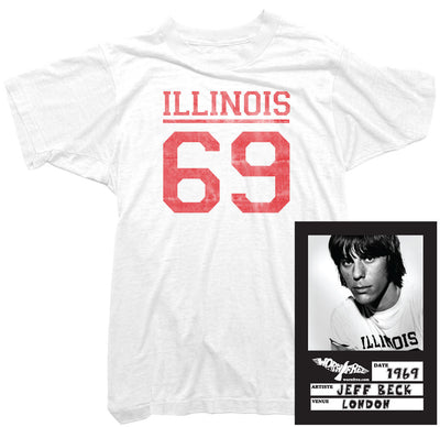 Jeff Beck T-Shirt - Illinois 69 Tee worn by Jeff Beck