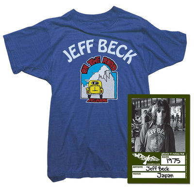 Jeff Beck T-Shirt - Jeff Beck On the Road Tee worn by Jeff Beck