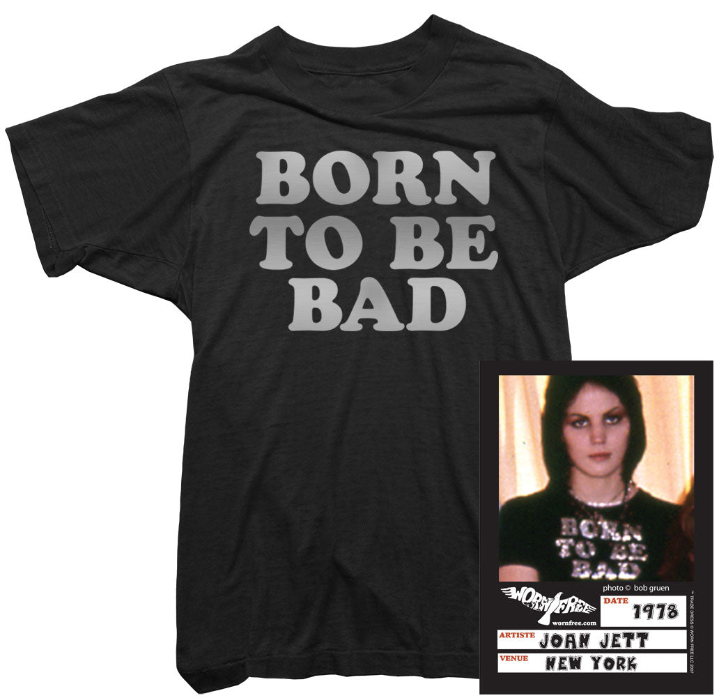 Joan Jett T-Shirt - Born To Be Bad Tee worn by Joan Jett