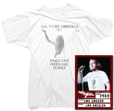 Joe Cocker T-Shirt - Ms Nude America Tee worn by Joe Cocker