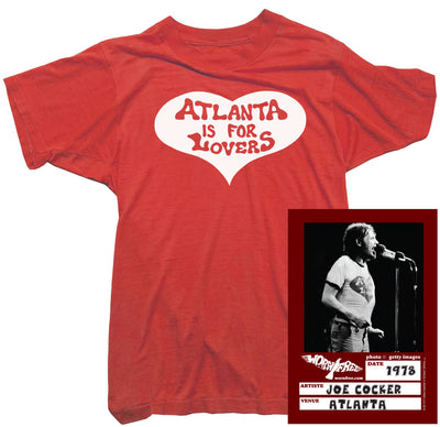 Joe Cocker T-Shirt - Atlanta Is For Lovers Tee worn by Joe Cocker
