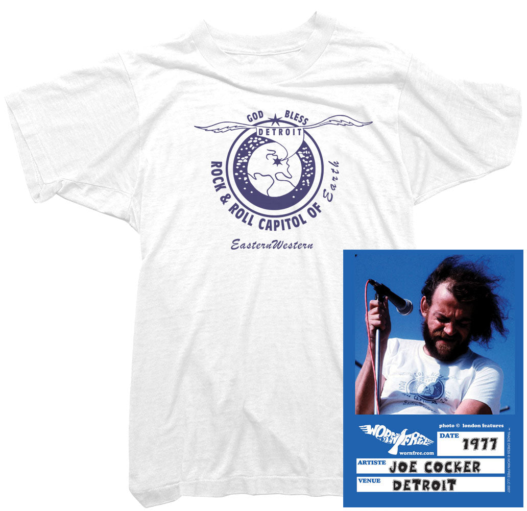 Joe Cocker T-Shirt - Detroit Tee worn by Joe Cocker