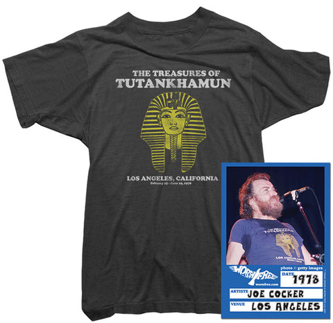 Joe Cocker T-Shirt - Tutankhamun Tee worn by Joe Cocker