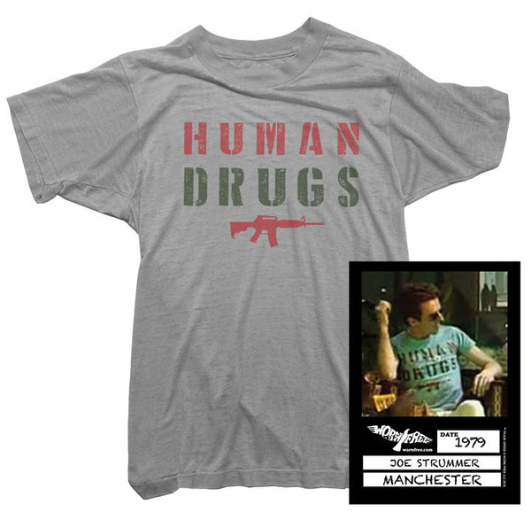 Joe Strummer T-Shirt - Human Drugs Tee worn by Joe Strummer