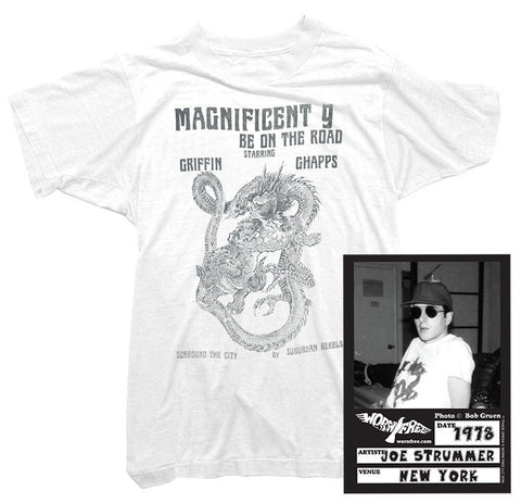 Joe Strummer T-Shirt - Magnificent 9 Tee worn by Joe Strummer