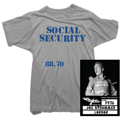 Joe Strummer T-Shirt - Social Security Tee worn by Joe Strummer