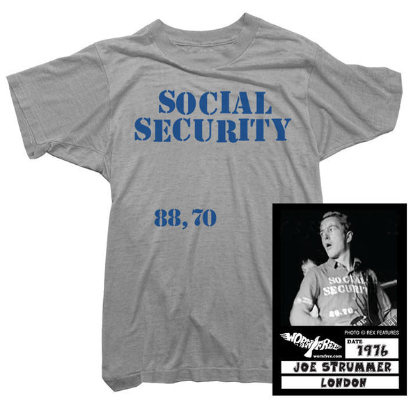 Joe Strummer - Social Security Tee