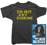 Joey Ramone T-Shirt - I'm Not Joey Ramone Tee worn by Joey Ramone