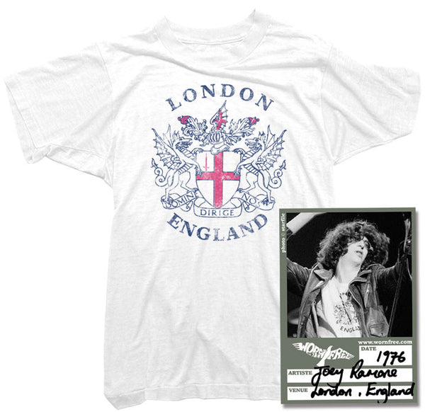 Joey Ramone T-Shirt - London Tee worn by Joey Ramone