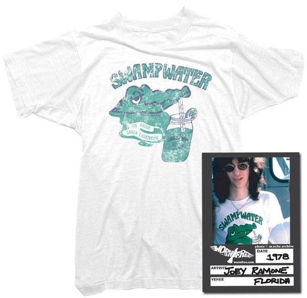 Joey Ramone T-Shirt - Swamp Water Tee worn by Joey Ramone