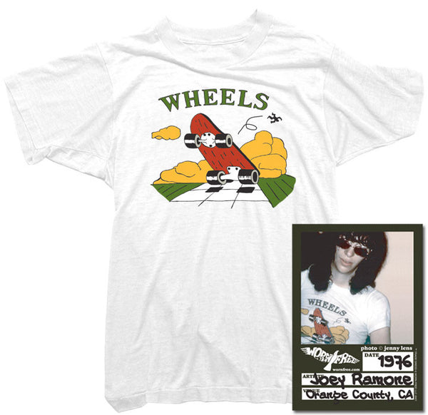 Joey Ramone T-Shirt - Wheels Tee worn by Joey Ramone