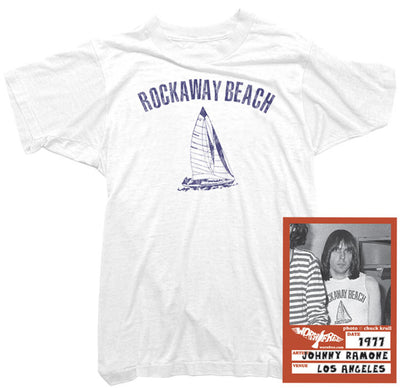 Johnny Ramone T-shirt - Rockaway Beach Tee worn by Johnny Ramone