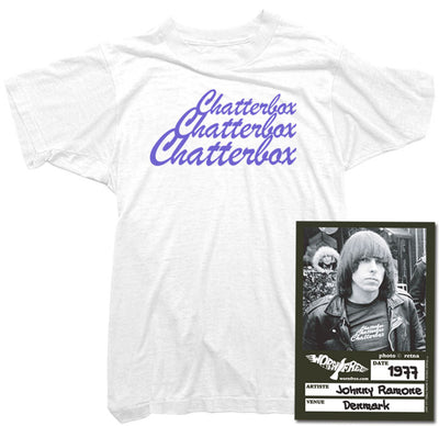 Johnny Ramone T-Shirt - Chatterbox Tee worn by Johnny Ramone