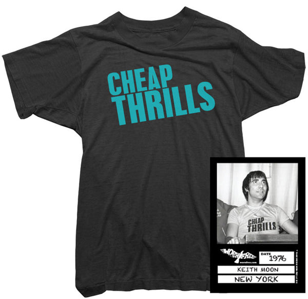 Keith Moon T-shirt - Cheap Thrills Tee worn by Keith Moon