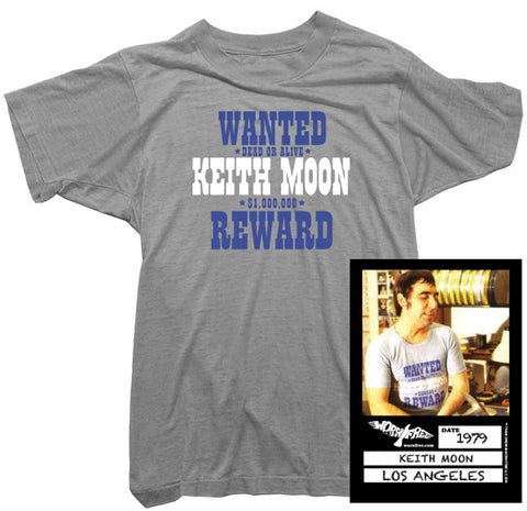 Keith Moon T-Shirt - Wanted Tee worn by Keith Moon