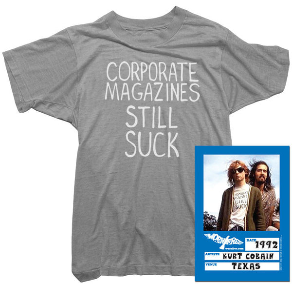 Kurt Cobain T-Shirt - Corporate Magazine Tee worn by Kurt Cobain