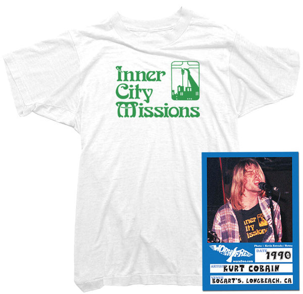 Kurt Cobain T-Shirt - Inner City Missions Tee worn by Kurt Cobain