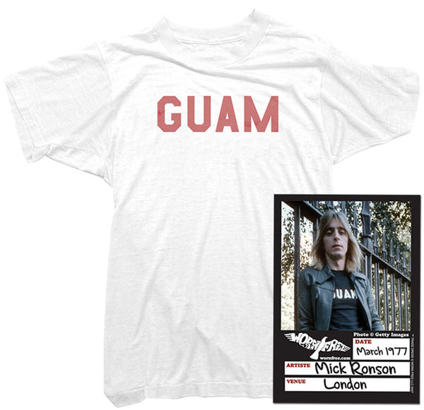 Mick Ronson T-Shirt - Guam Tee worn by Mick Ronson