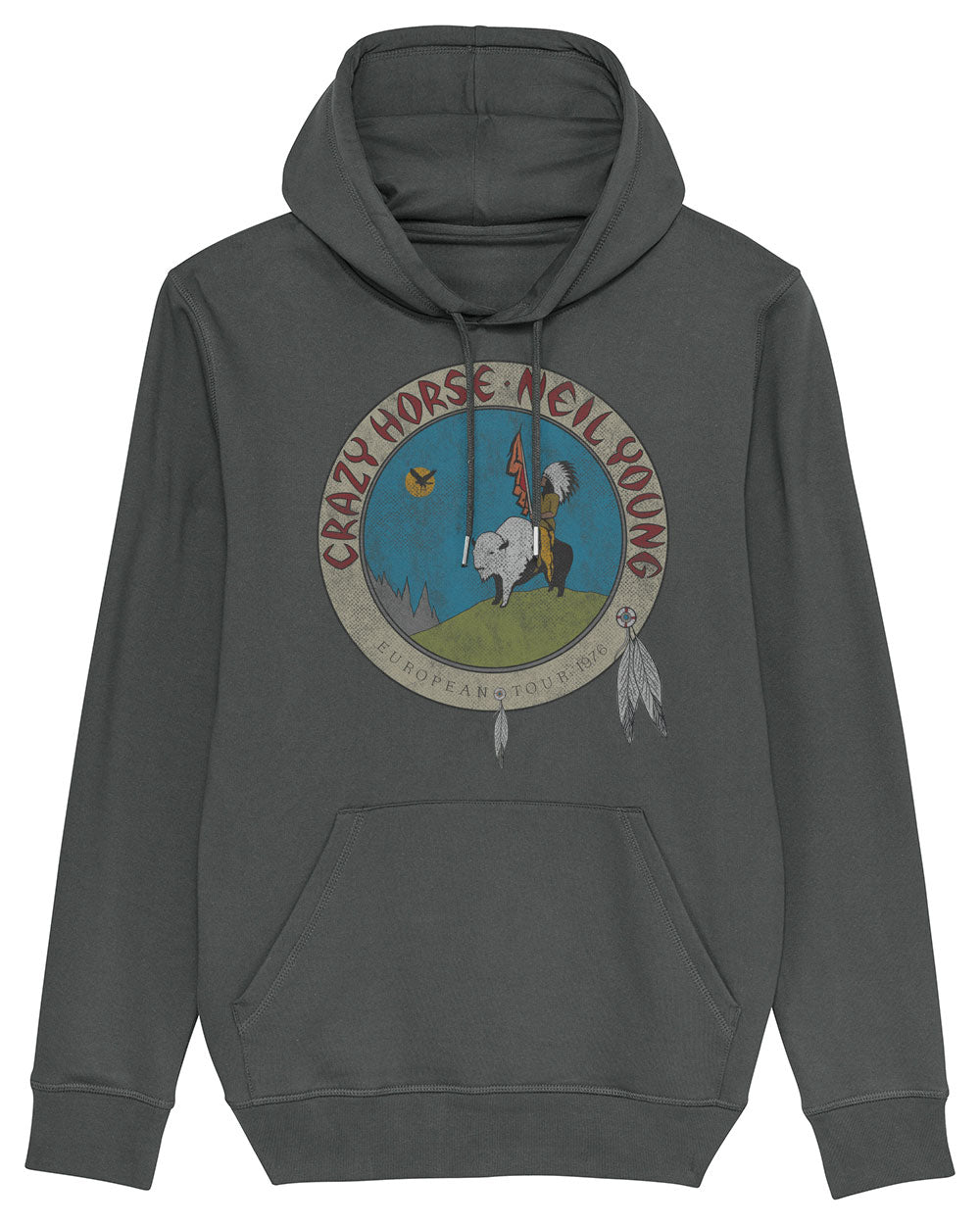 Neil Young Hoodie - Neil Young Euro Tour 1976 Hoodie