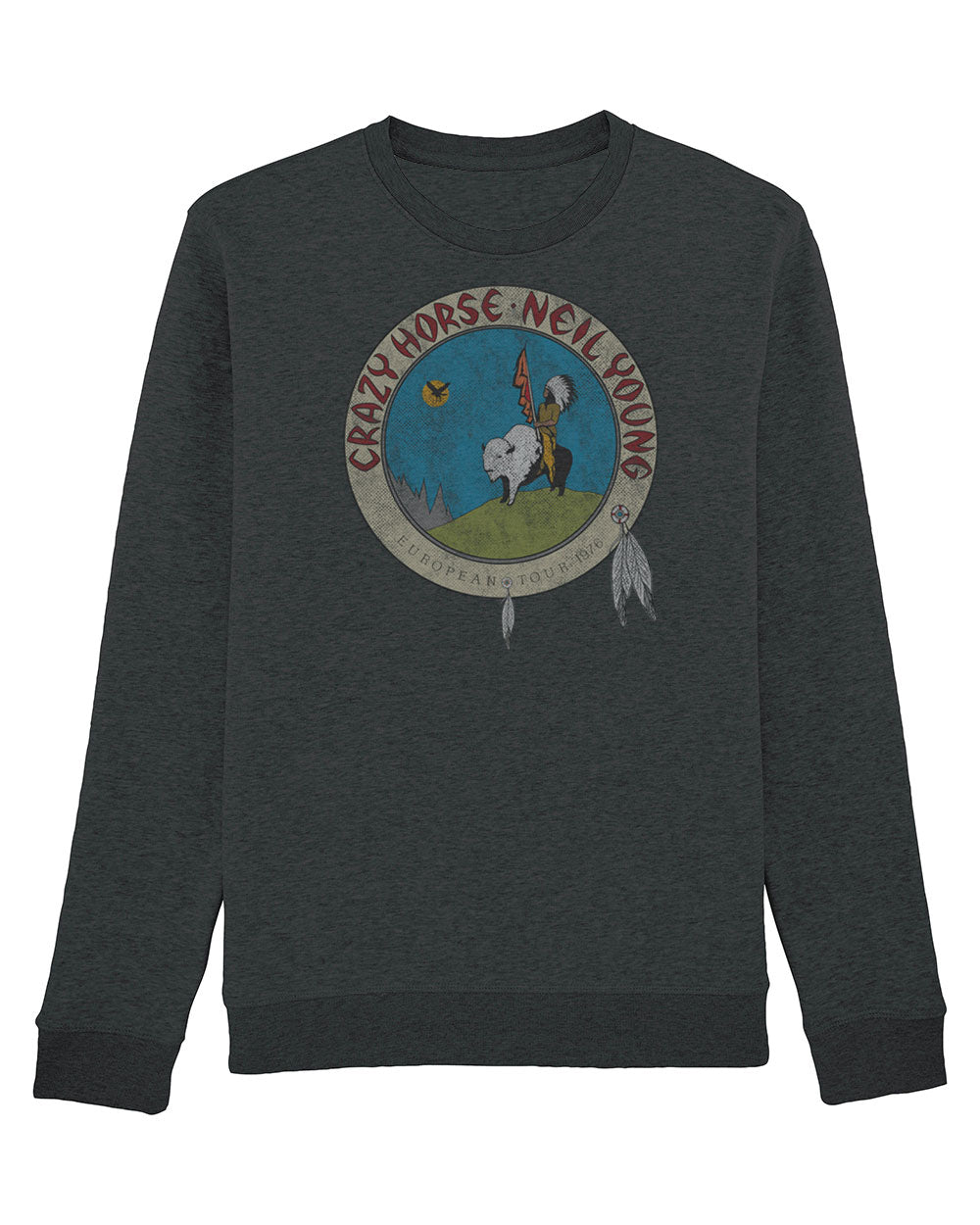 Neil Young Sweat Shirt - Neil Young Euro Tour 1976 Sweat Shirt
