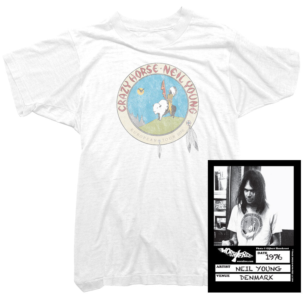 4daca84873 Neil Young T-Shirt. Crazy Horse Tour T-Shirt. Neil Young Tour T ...