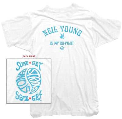Neil Young T-Shirt - Neil Young is my Co-Pilot Tee