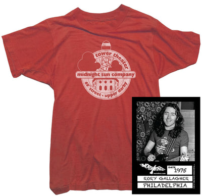 Rory Gallagher T-Shirt - Midnight Sun tee worn by Rory Gallagher