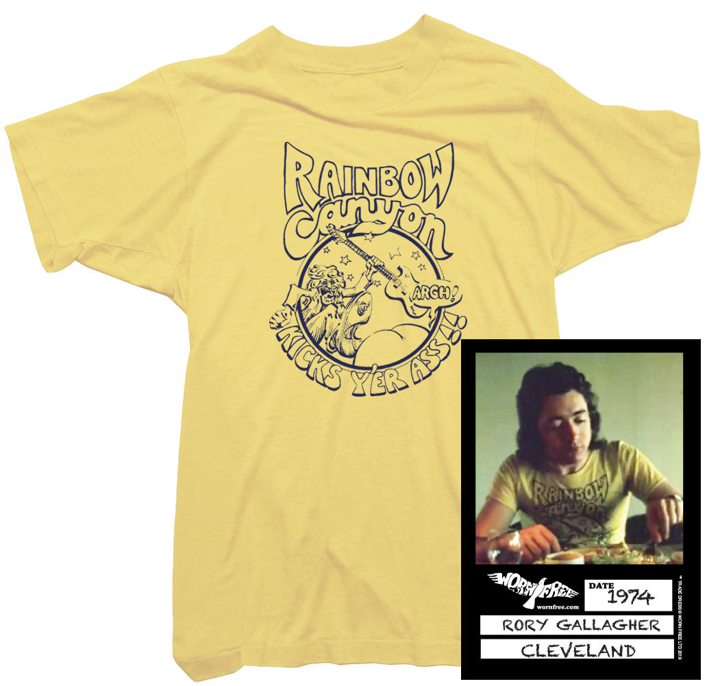 Rory Gallagher T-Shirt - Rainbow Canyon tee worn by Rory Gallagher