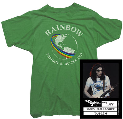 Rory Gallagher T-Shirt - Rainbow Freight worn by Rory Gallagher