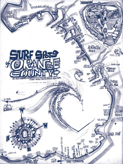 Rick Griffin T-Shirt - Surf Spots of Orange County Tee