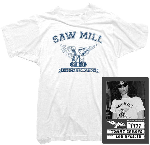 Tommy Ramone T-Shirt - Saw Mill Tee worn by Tommy Ramone