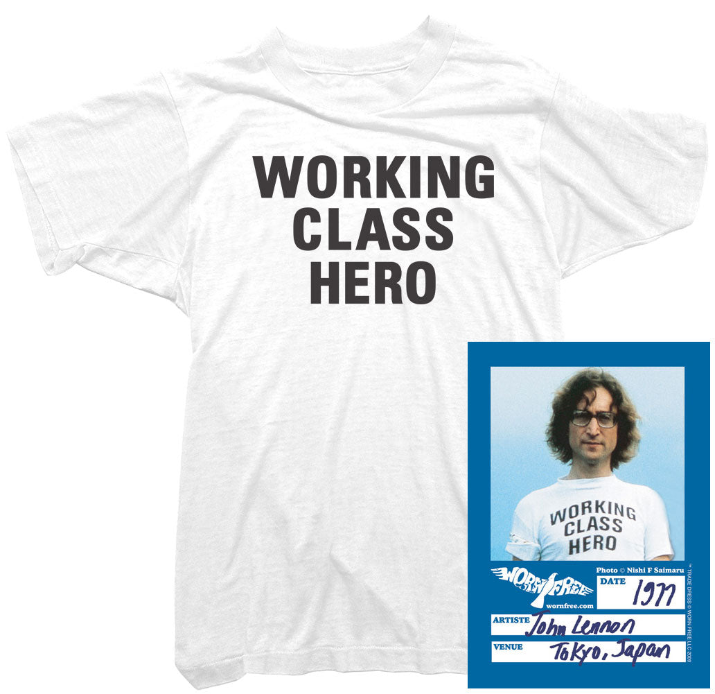 John Lennon T-Shirt - Working Class Hero Tee worn by John Lennon
